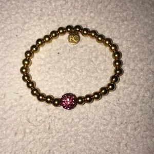 gold and pink rustic cuff!